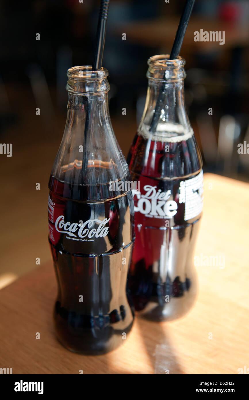 Coca-Cola Glass Bottles - Stock Image