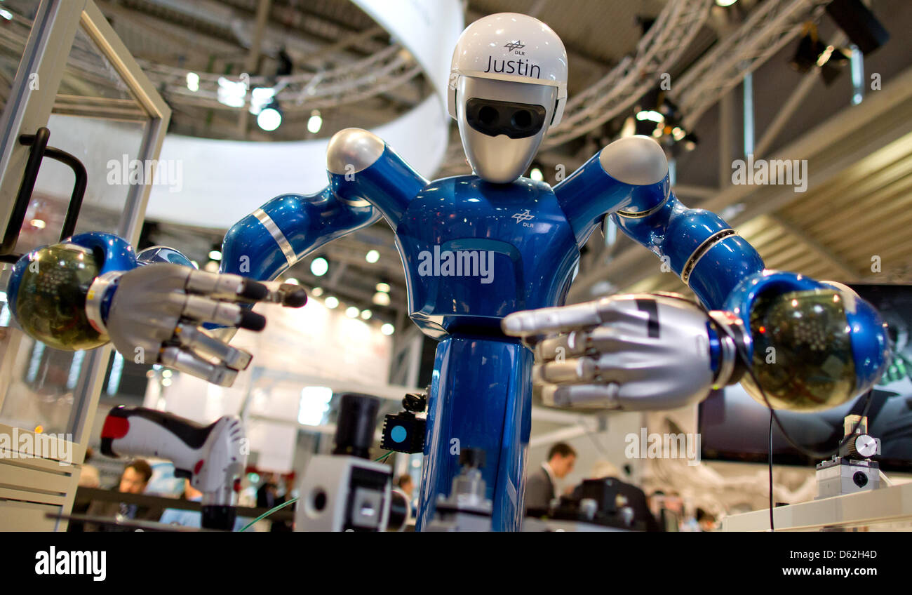 Robot Justin developed by the German Aerospace Center (DLR ...