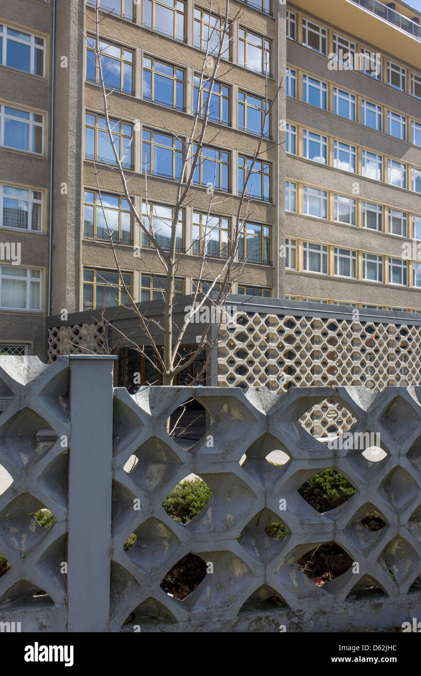 Exterior of \'Haus 1\' the ministerial headquarters of the Stasi ...