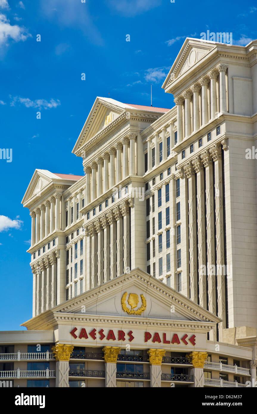 Caesar's Palace Hotel, The Strip, Las Vegas Boulevard South, Las Vegas, Nevada, USA - Stock Image
