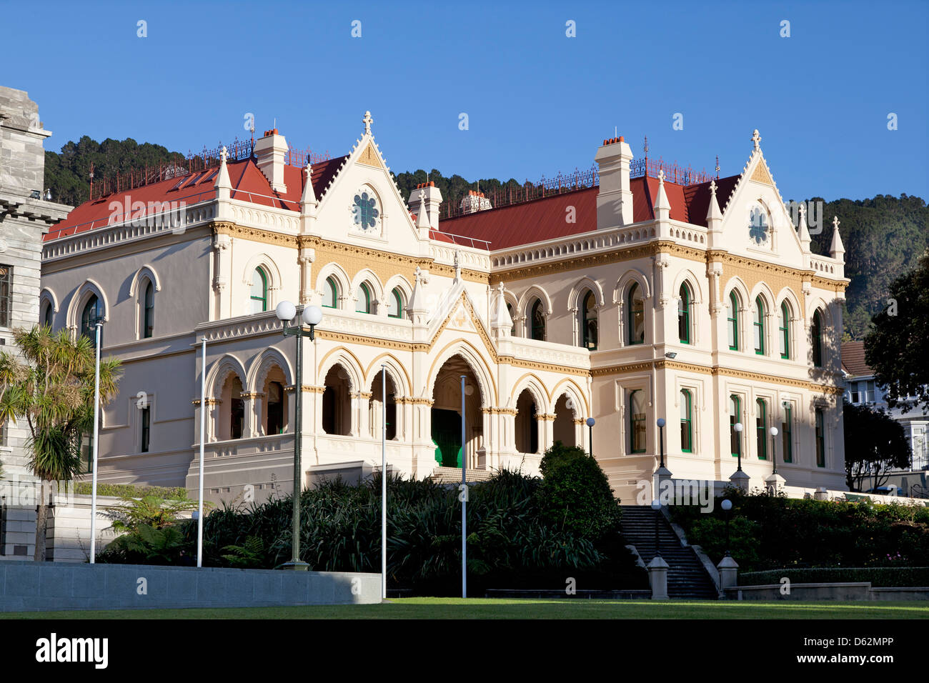 Old government buildings in Wellington, New Zealand - Stock Image