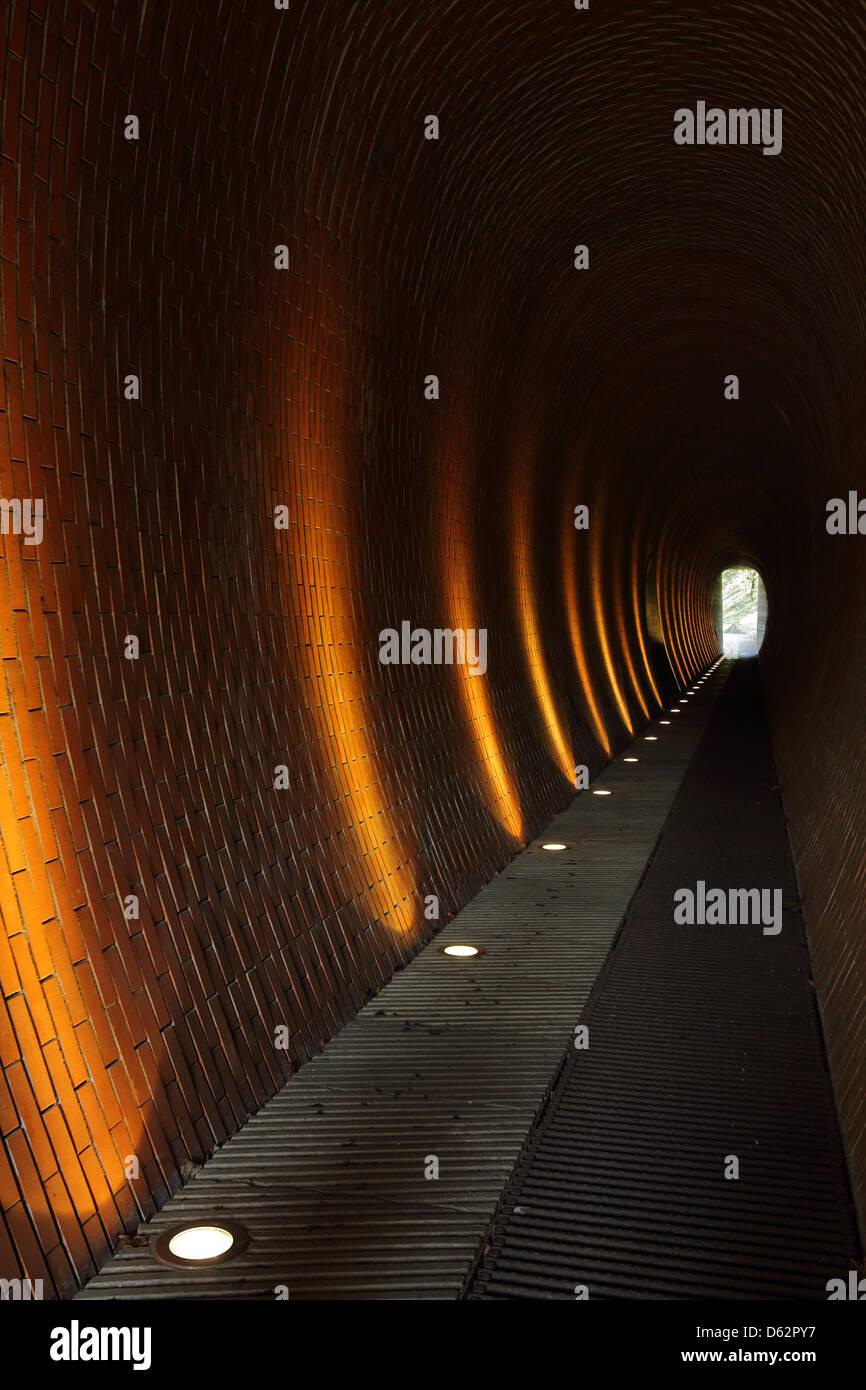 Subway with light in Letná Park on Letná hill, Prague Stock Photo