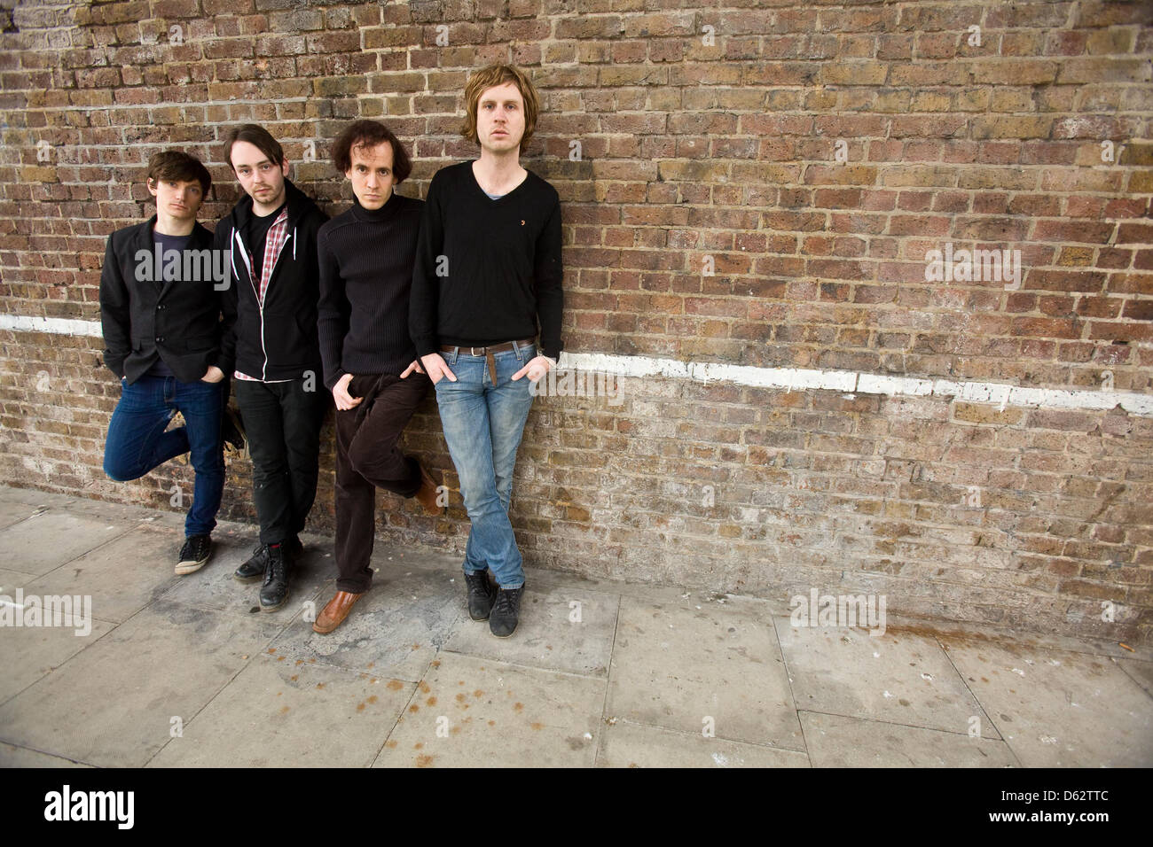 Longview, English indie rock band photographed in Camden, London, England. Stock Photo