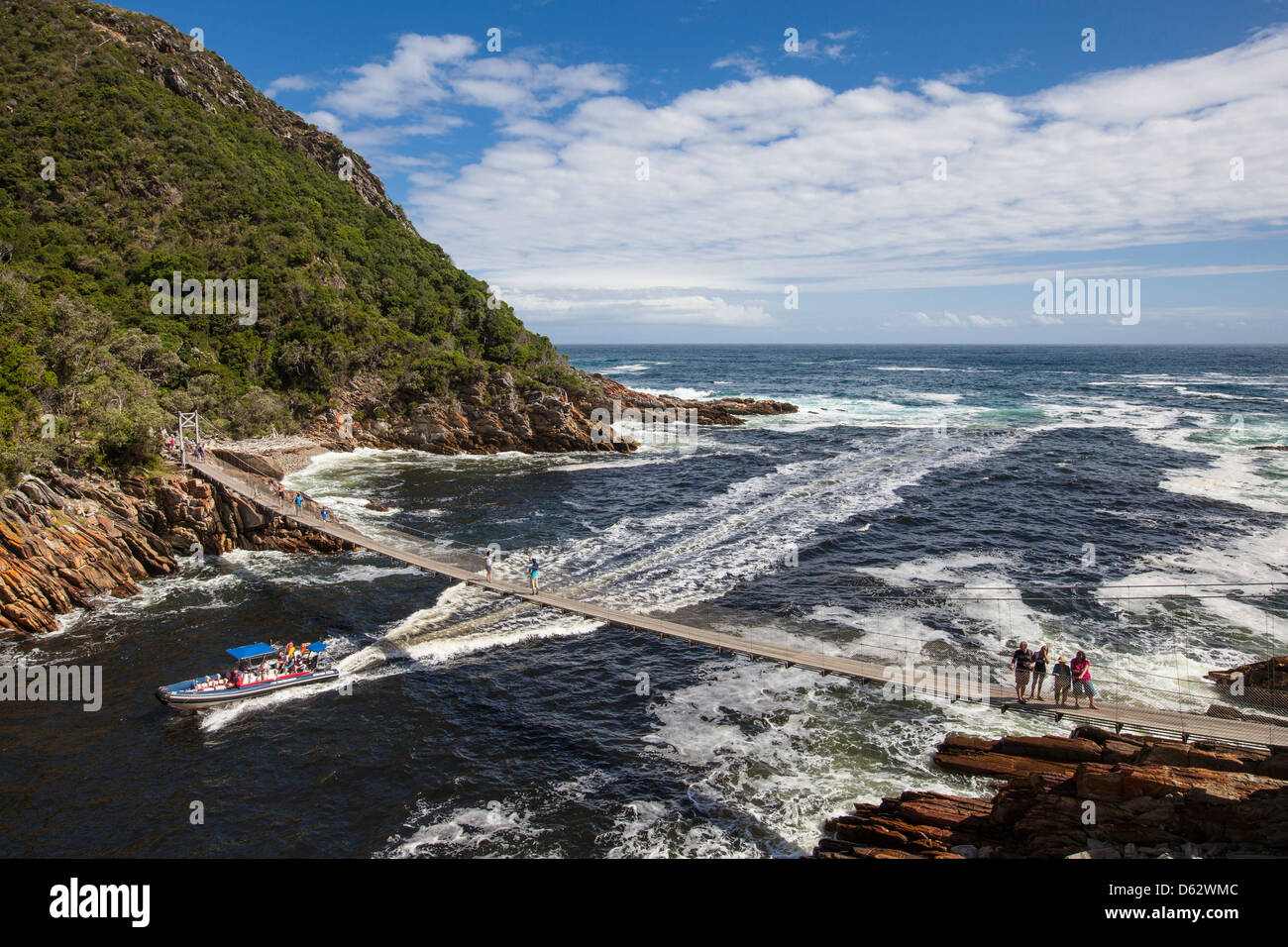 Storms River mouth, Garden Route, South Africa Stock Photo