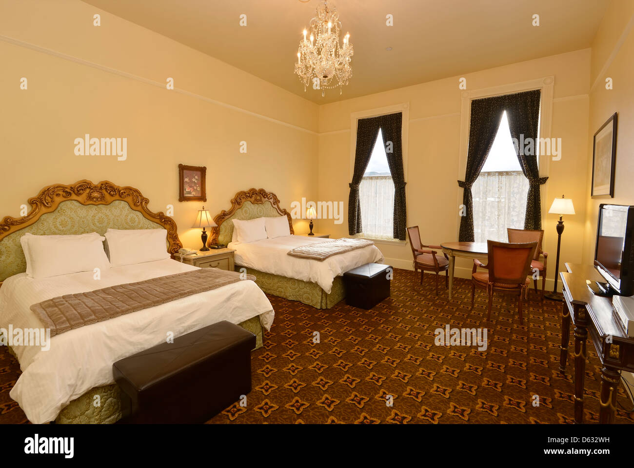Guest Room In The Geiser Grand Hotel In Baker City Oregon Stock Photo Alamy