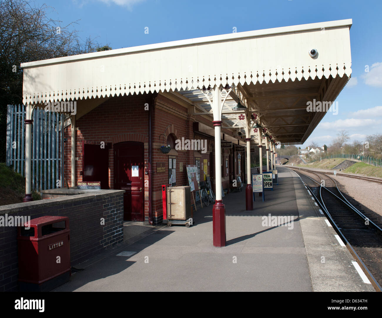 Station platform at Leicester North Station, Leicester; The Great Central Railway. - Stock Image