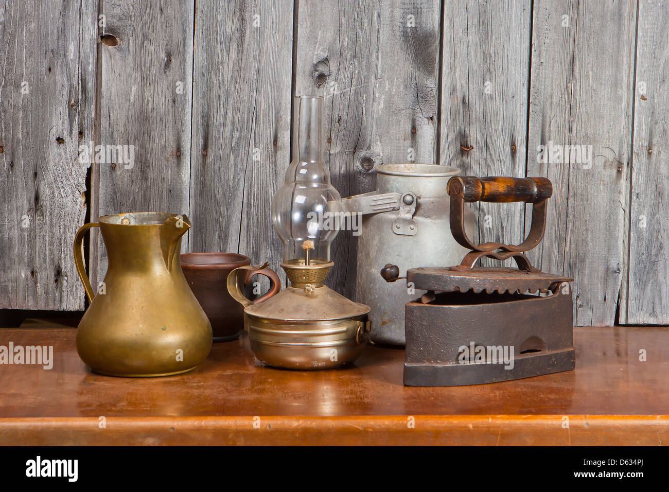 Still-life with old things - Stock Image