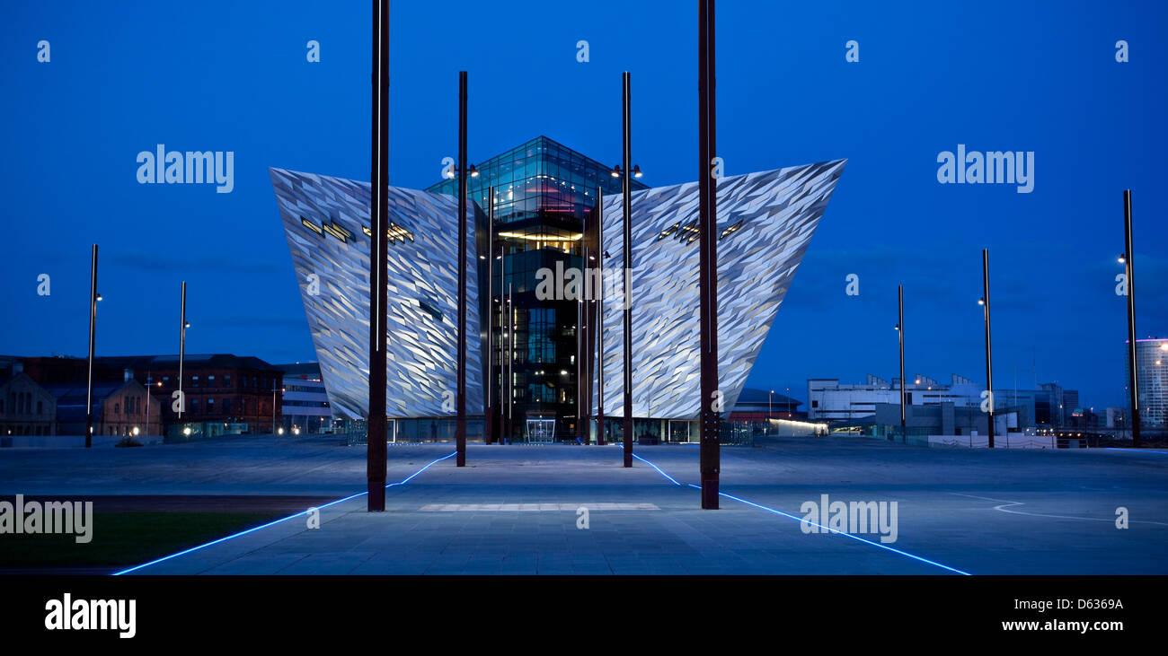 Titanic Building, Belfast, Titanic Quarter, Harland and Wolff, Shipyard, Shipbuilding, Museum, Attraction, Exhibition, - Stock Image