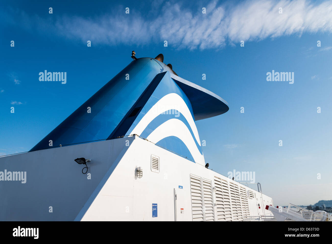 Funnel of BC Ferry - Stock Image