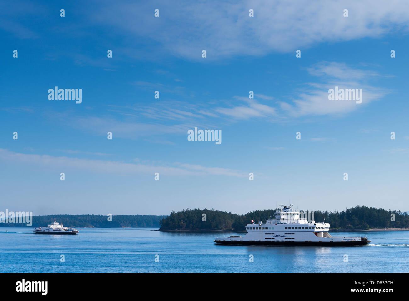 British Columbia Ferries, near Swartz Bay, British Columbia, Canada - Stock Image