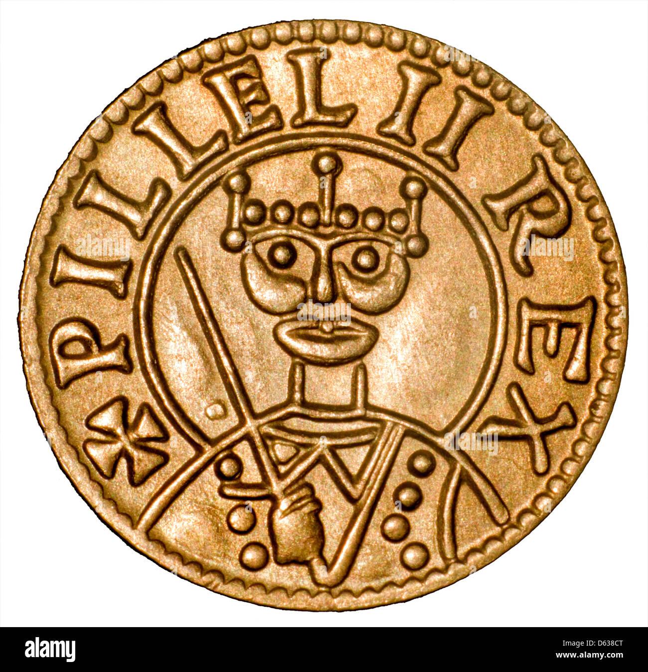 Coin of William I (the Conqueror) Replica - Stock Image
