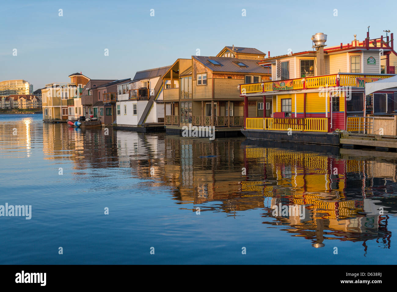 Floating homes, - Stock Image