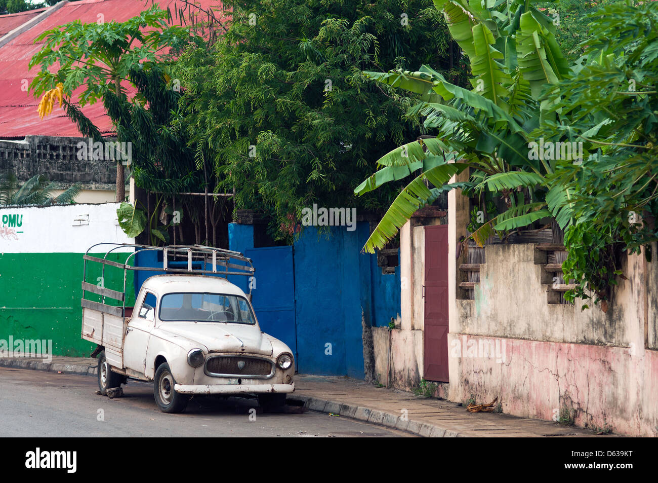 French Colonial Architecture Hell Ville Nosy Stock Photos & French