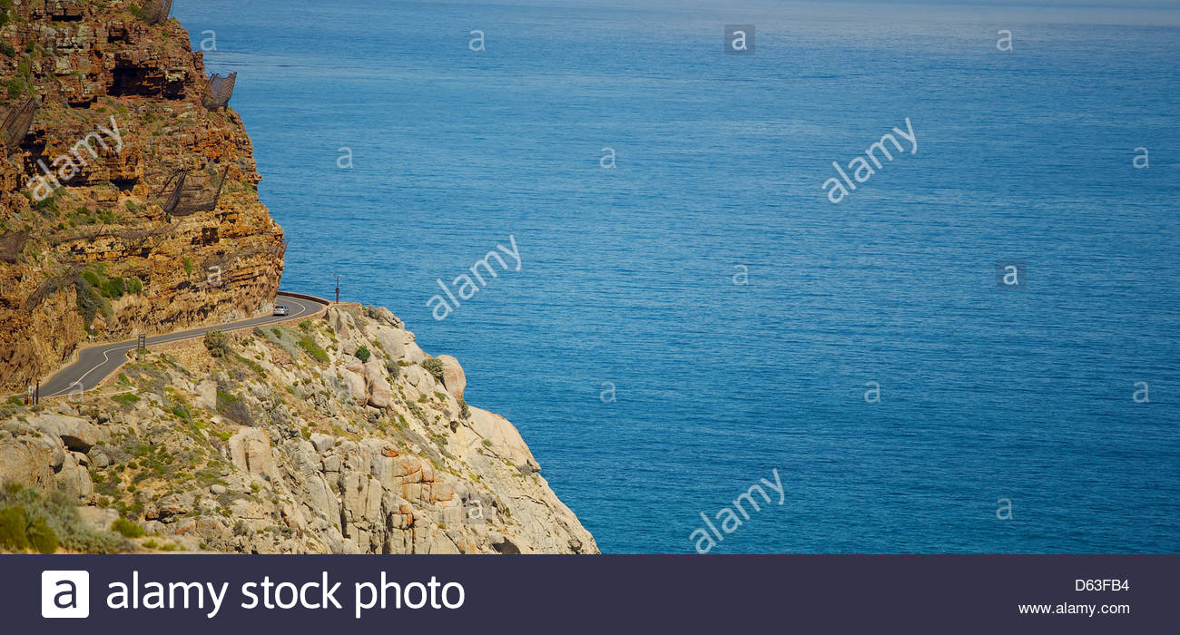A morning drive around Chapmans peak in Cape Town - Stock Image