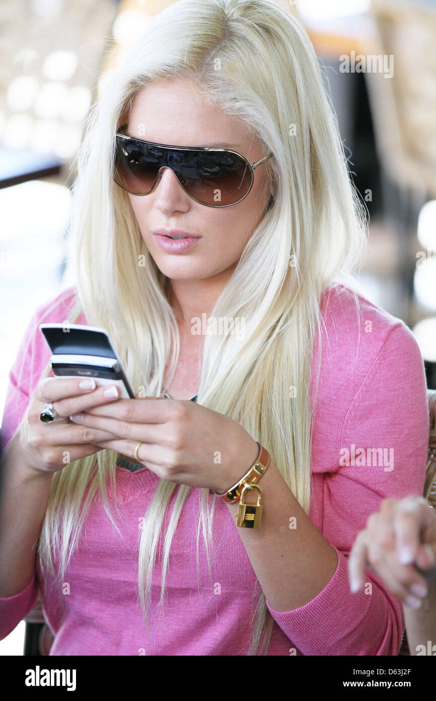 8607a522deb29 Heidi Montag filming segment for her new reality show Cafe Med on Sunset  Plaza in West