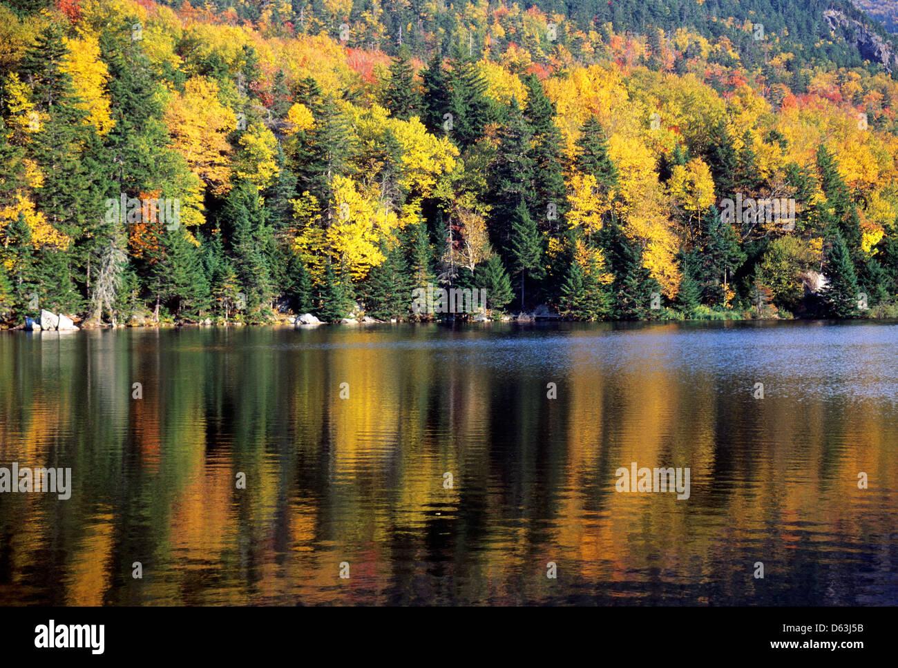 Elk281-1546 New Hampshire, White Mountains, Crawford Notch, Crawford Notch Lake - Stock Image