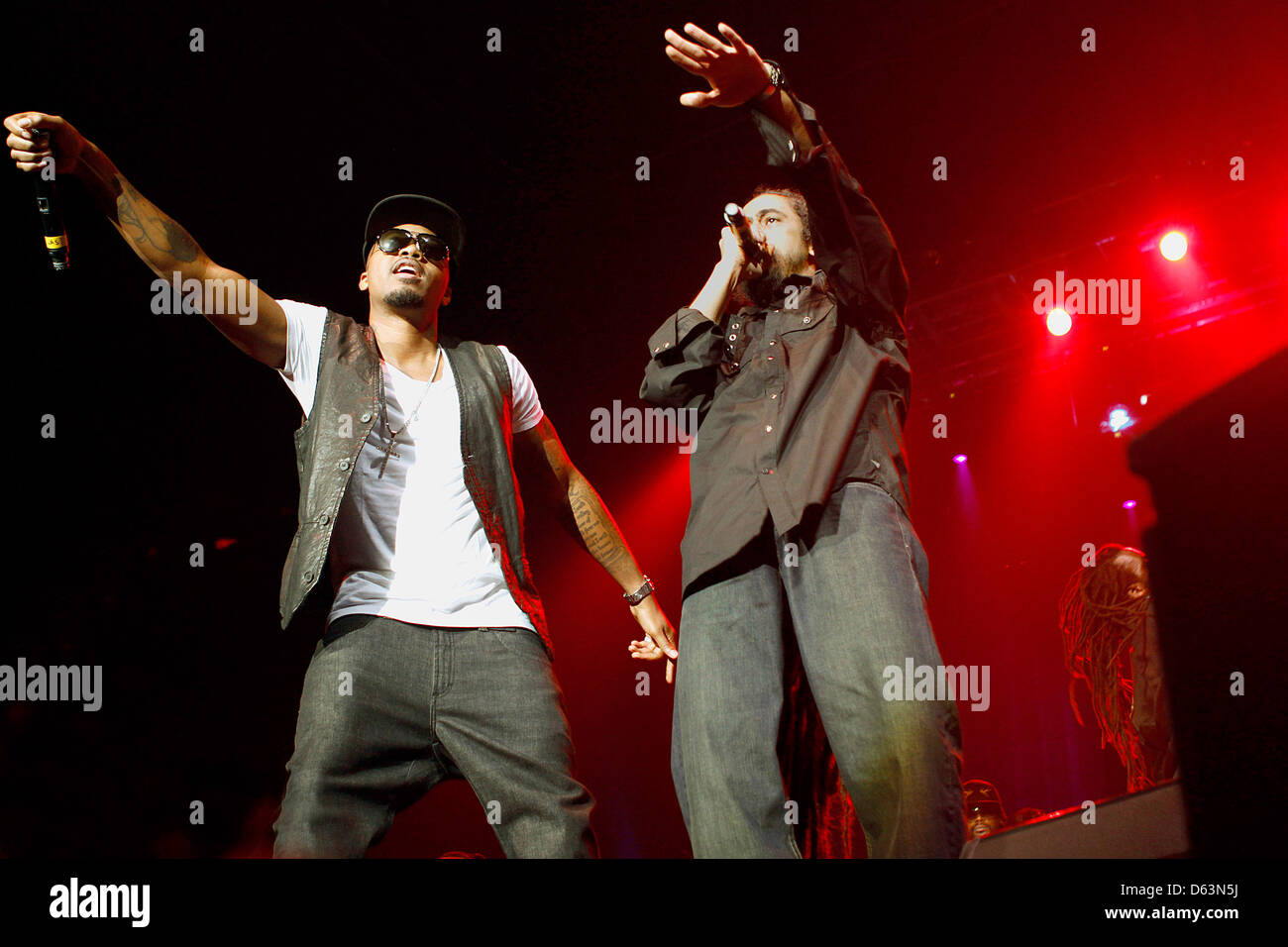 Nas and Damian Marley performing live together at Wembley Arena London, England - 31.03.11 - Stock Image