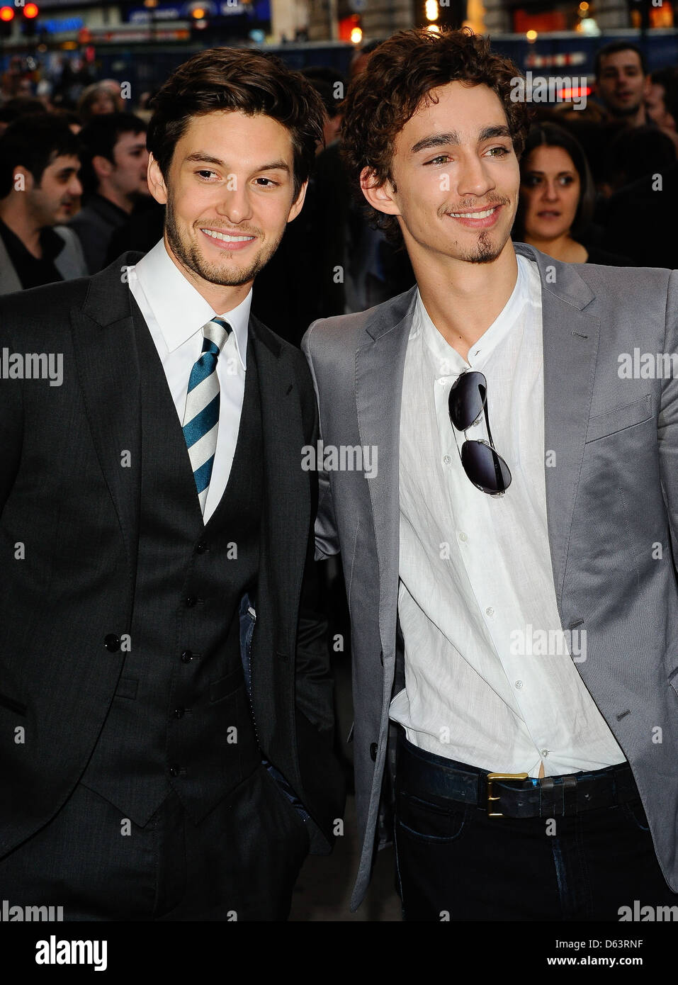 Ben Barnes And Robert Sheehan Uk Premiere Of Killing Bono Held At The Apollo West End Arrivals London England