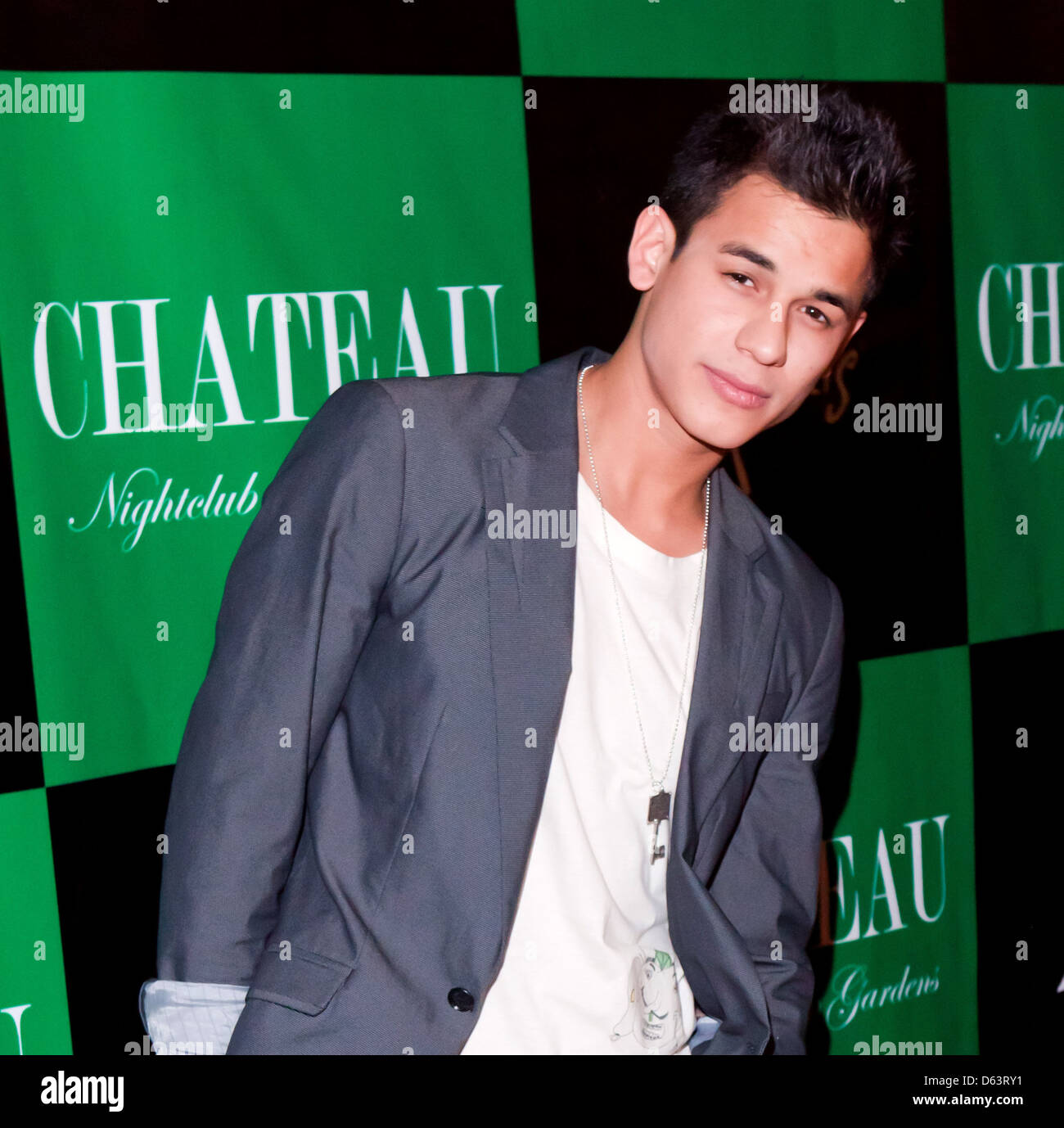 Bronson Pelletier 'Twilight' stars host party Chateau Nightclub and Gardens the Paris Hotel and Casino, - Stock Image