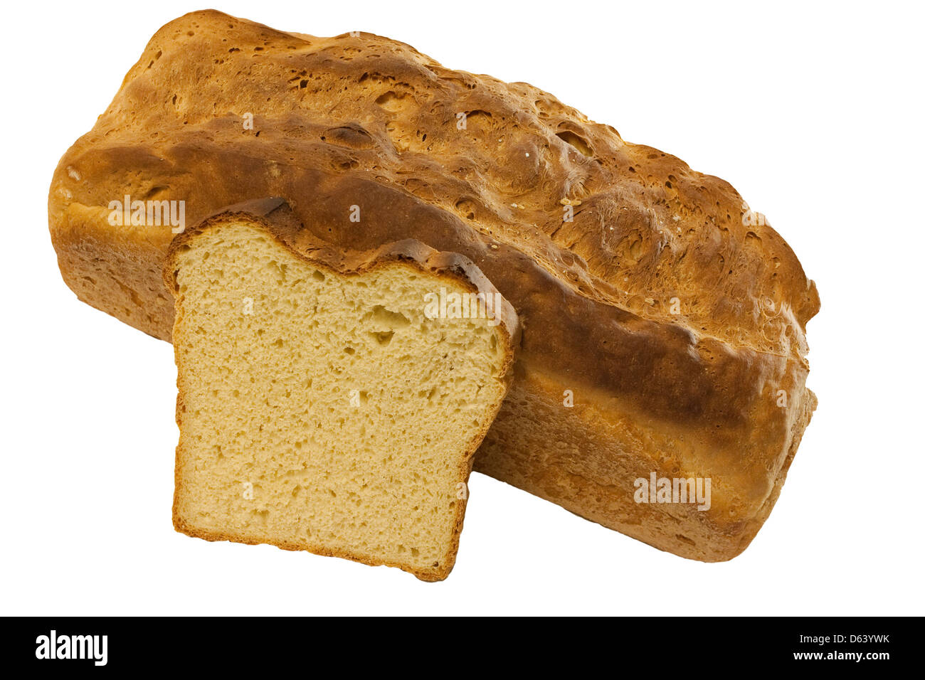 selfmade bread of wheat Stock Photo