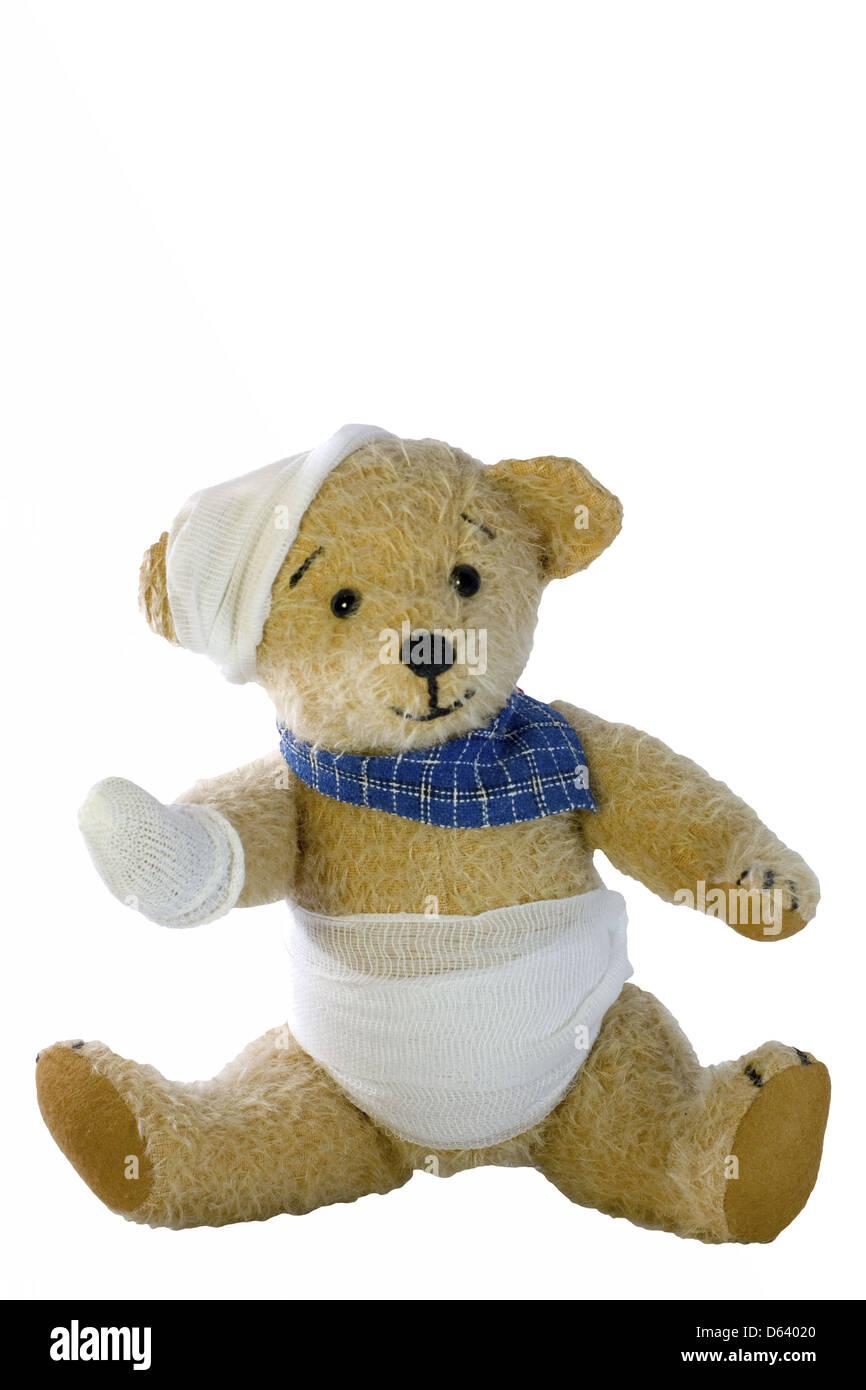 sick Teddy Stock Photo