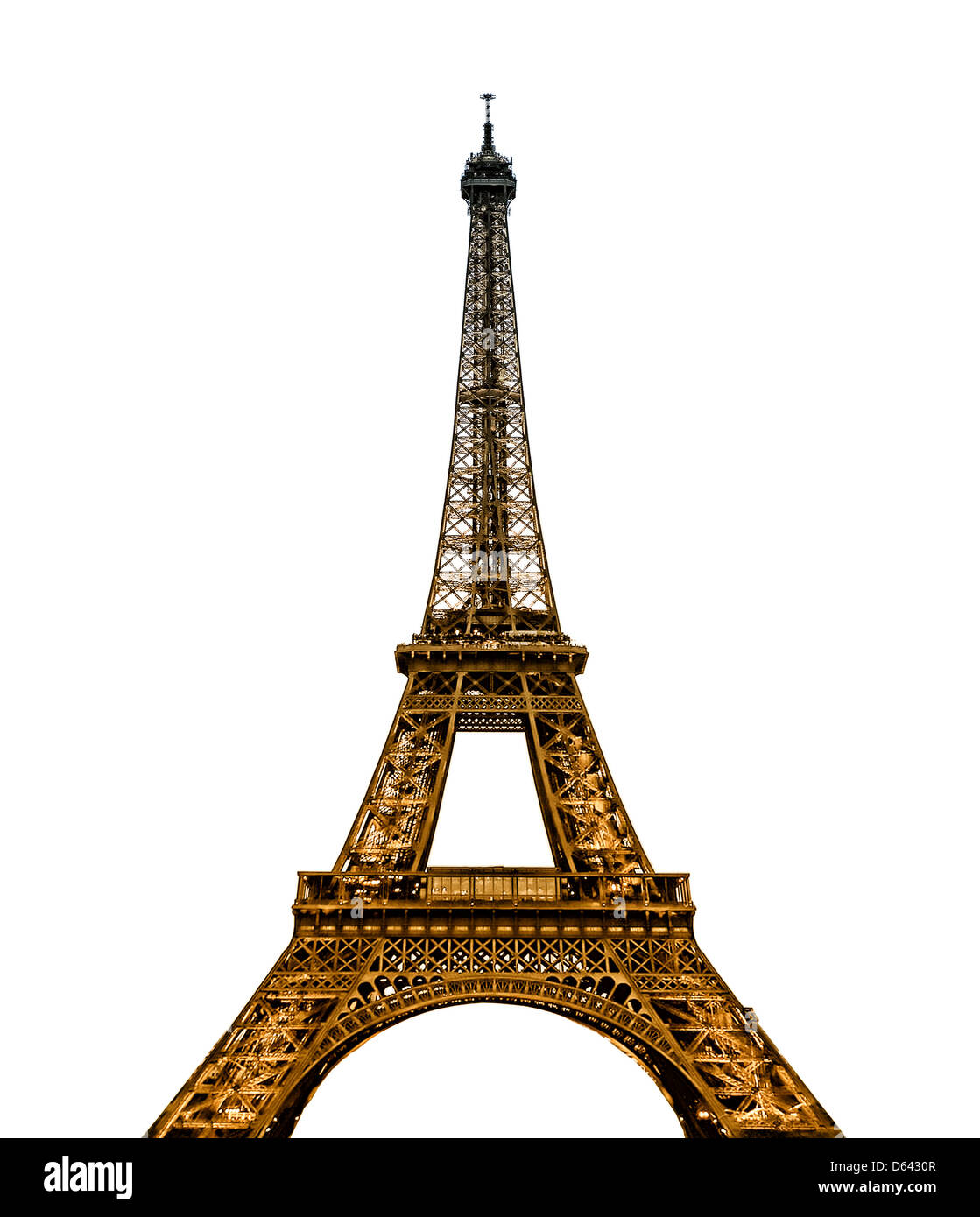 Eiffel Tower in Paris France - Stock Image