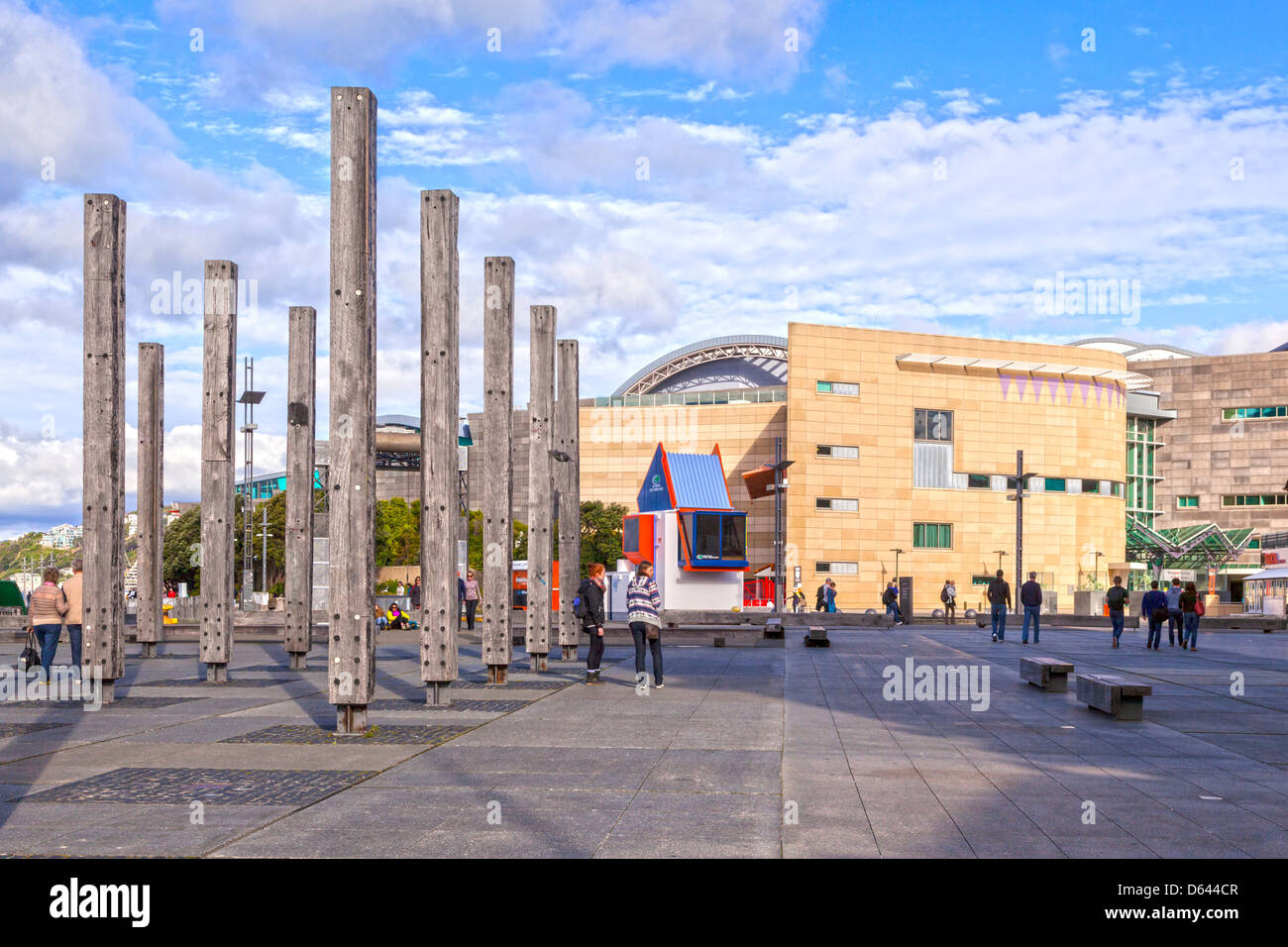 Te Papa, the Museum of New Zealand, Weillington. - Stock Image