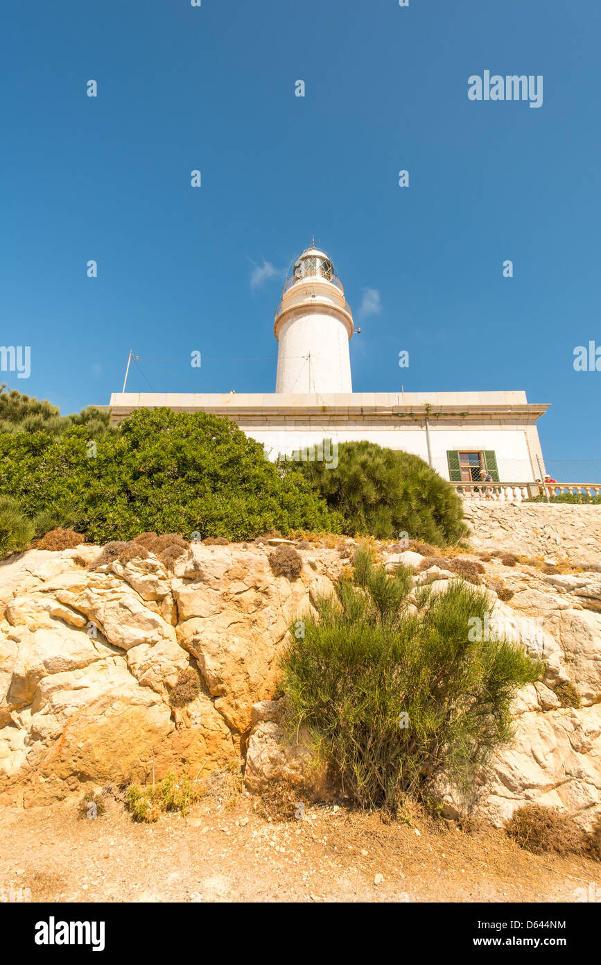 Lighthouse at Formentor Majorka - Stock Image