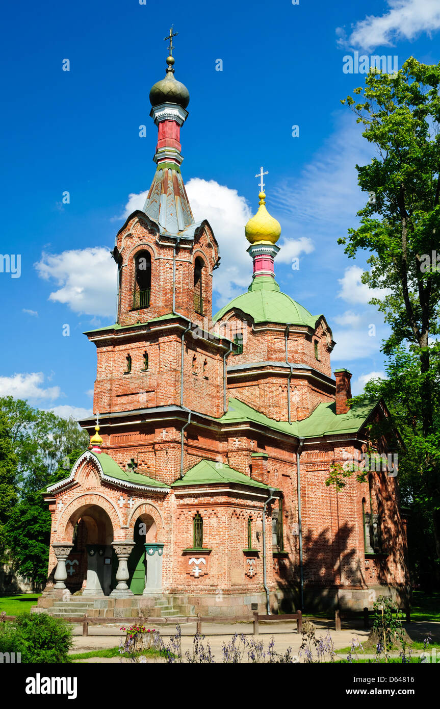 russian orthodox church in kuldiga, latvia - Stock Image