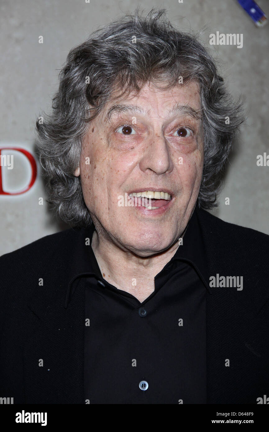 Tom Stoppard opening night of the Broadway production of 'Tom Stoppard's Arcadia' at the Ethel Barrymore - Stock Image