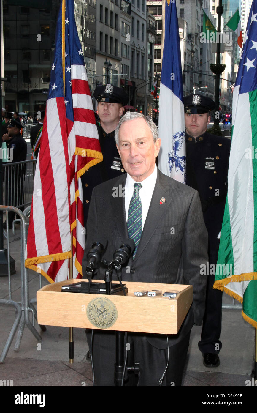 Mayor Michael Bloomberg 250th Annual St. Patrick's Day Parade New York City, USA - Stock Image