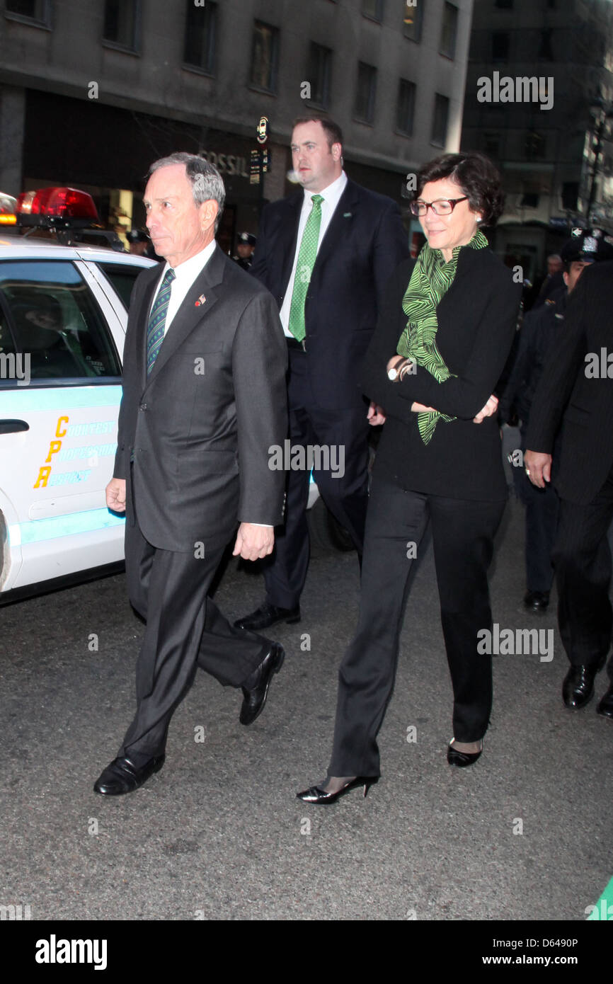 Mayor Michael Bloomberg and Diana Taylor 250th Annual St. Patrick's Day Parade New York City, USA - Stock Image