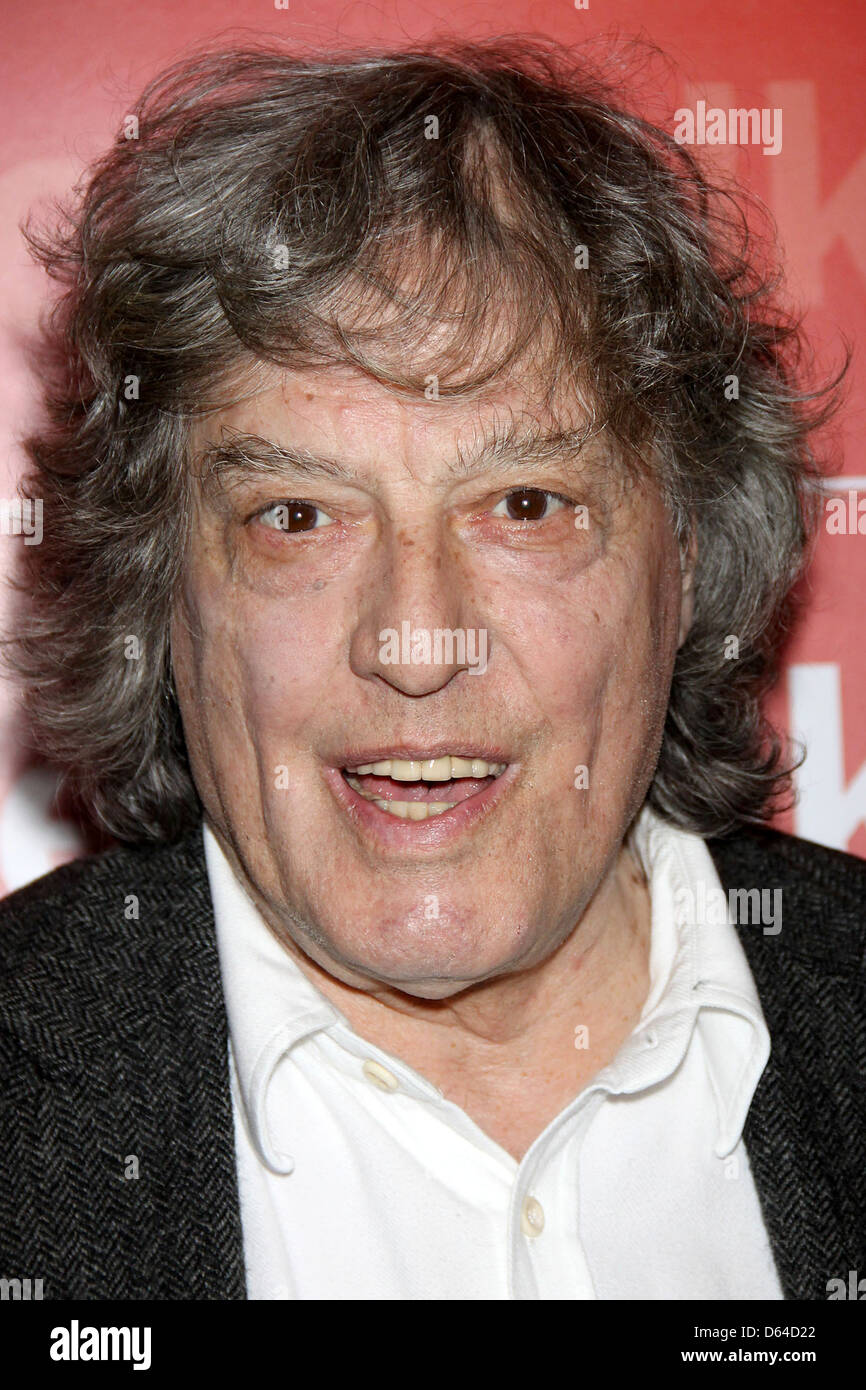 Tom Stoppard 'New York Times Talks' photocall held at the Times Centre New York City, USA - 15.03.11 - Stock Image