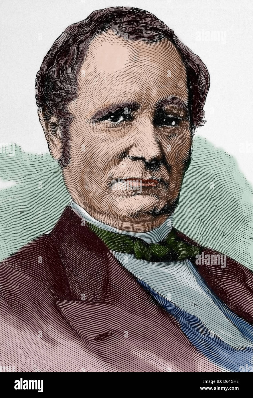 Thomas Andrews Hendricks (1819-1885). American politician. 21st US Vice president. Engraving in The Artistic Illustration, - Stock Image