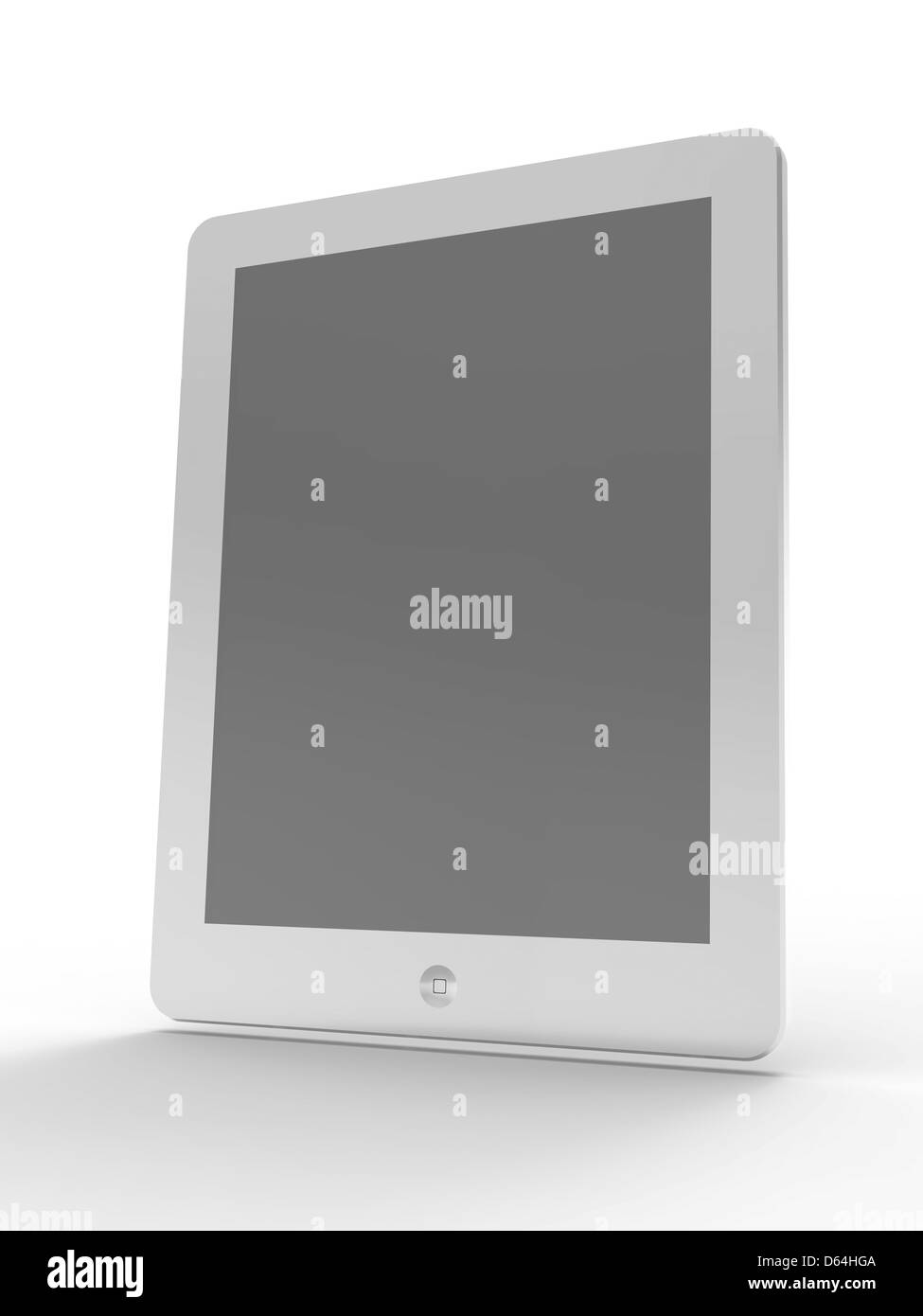 Tablet computer, artwork - Stock Image