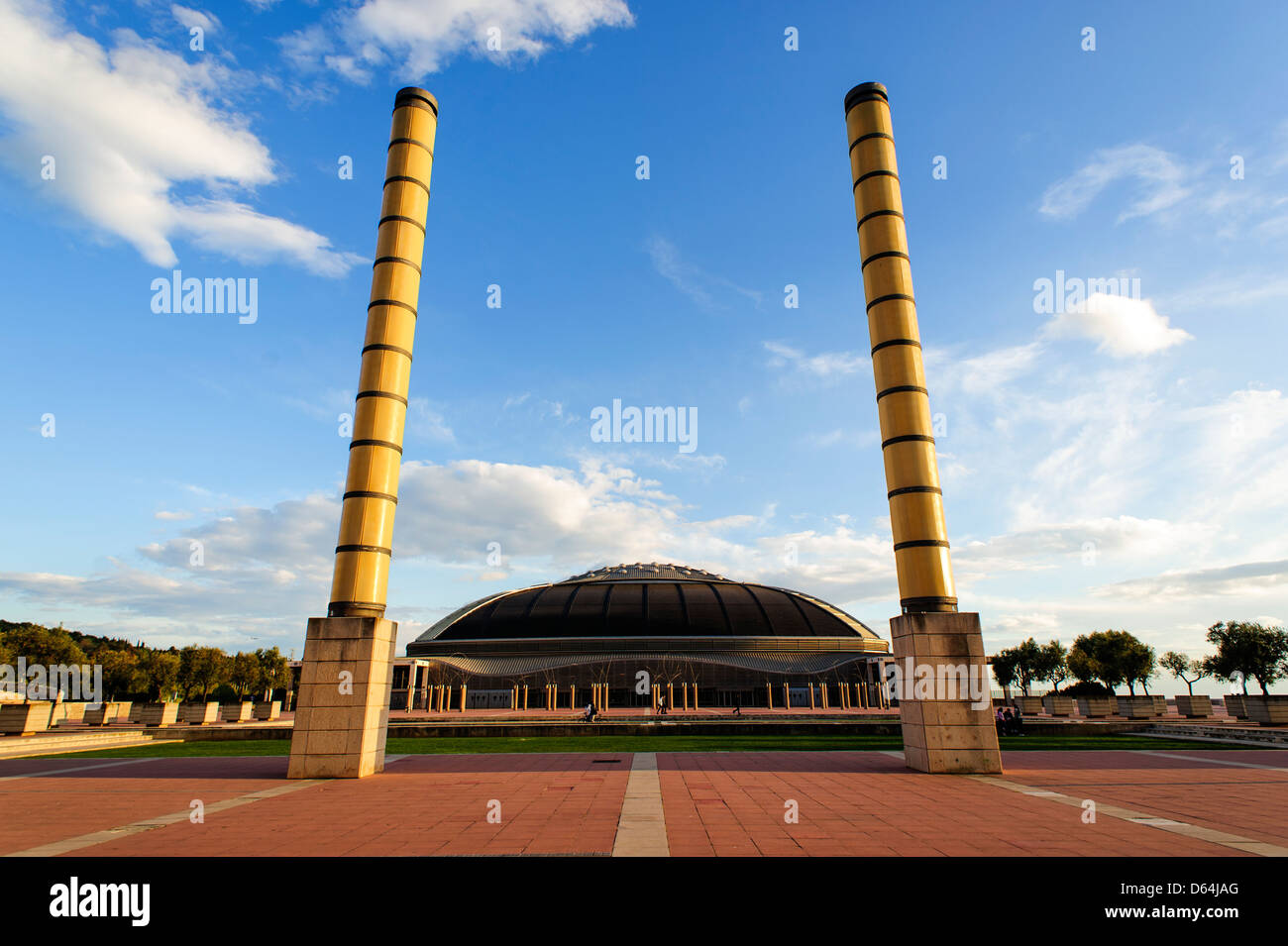 Palau Sant Jordi Olympic Stadium in Montjuic, Barcelona, Spain. - Stock Image