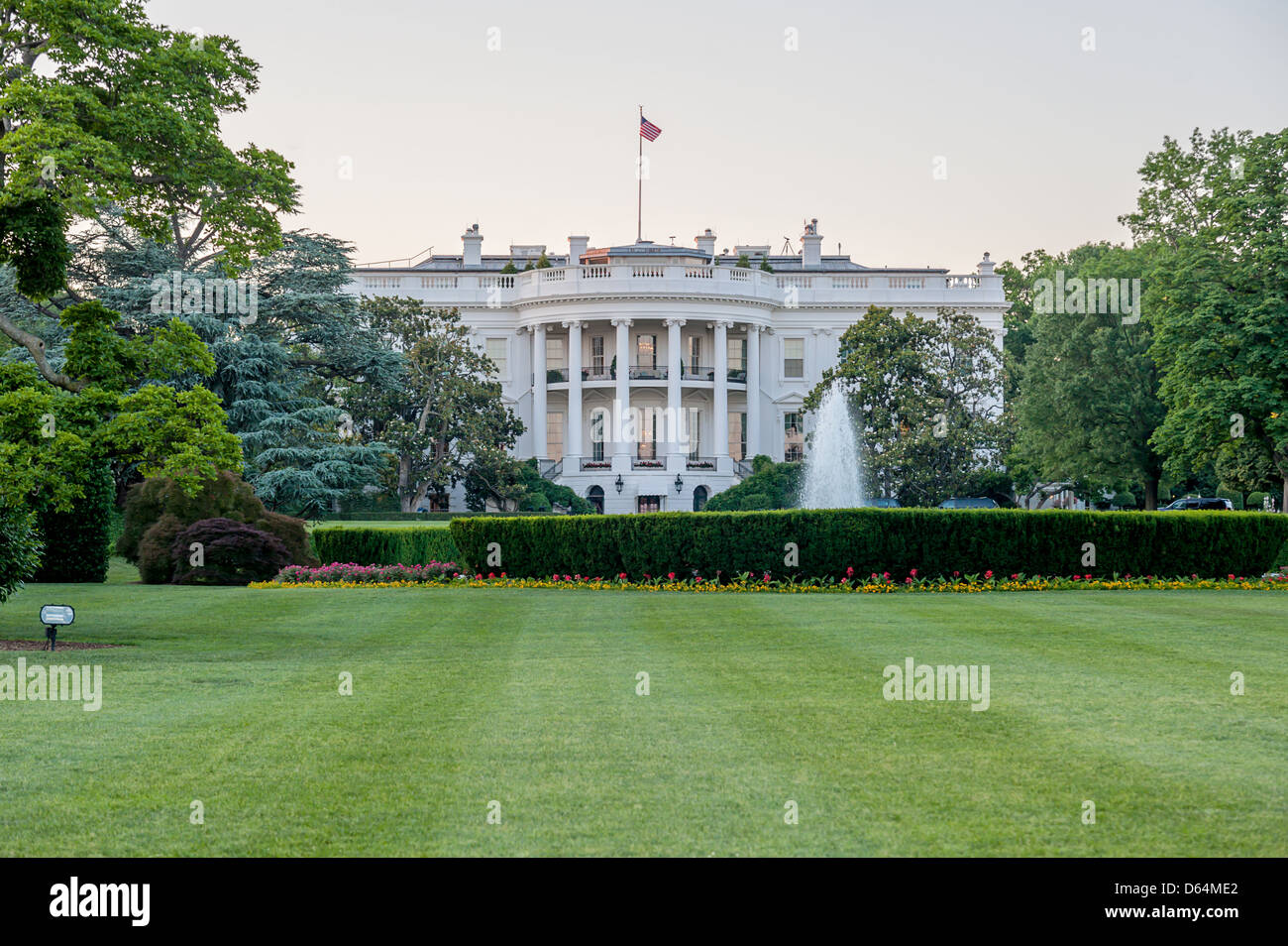 The White House - the home and office of the President of the United States of America - Stock Image