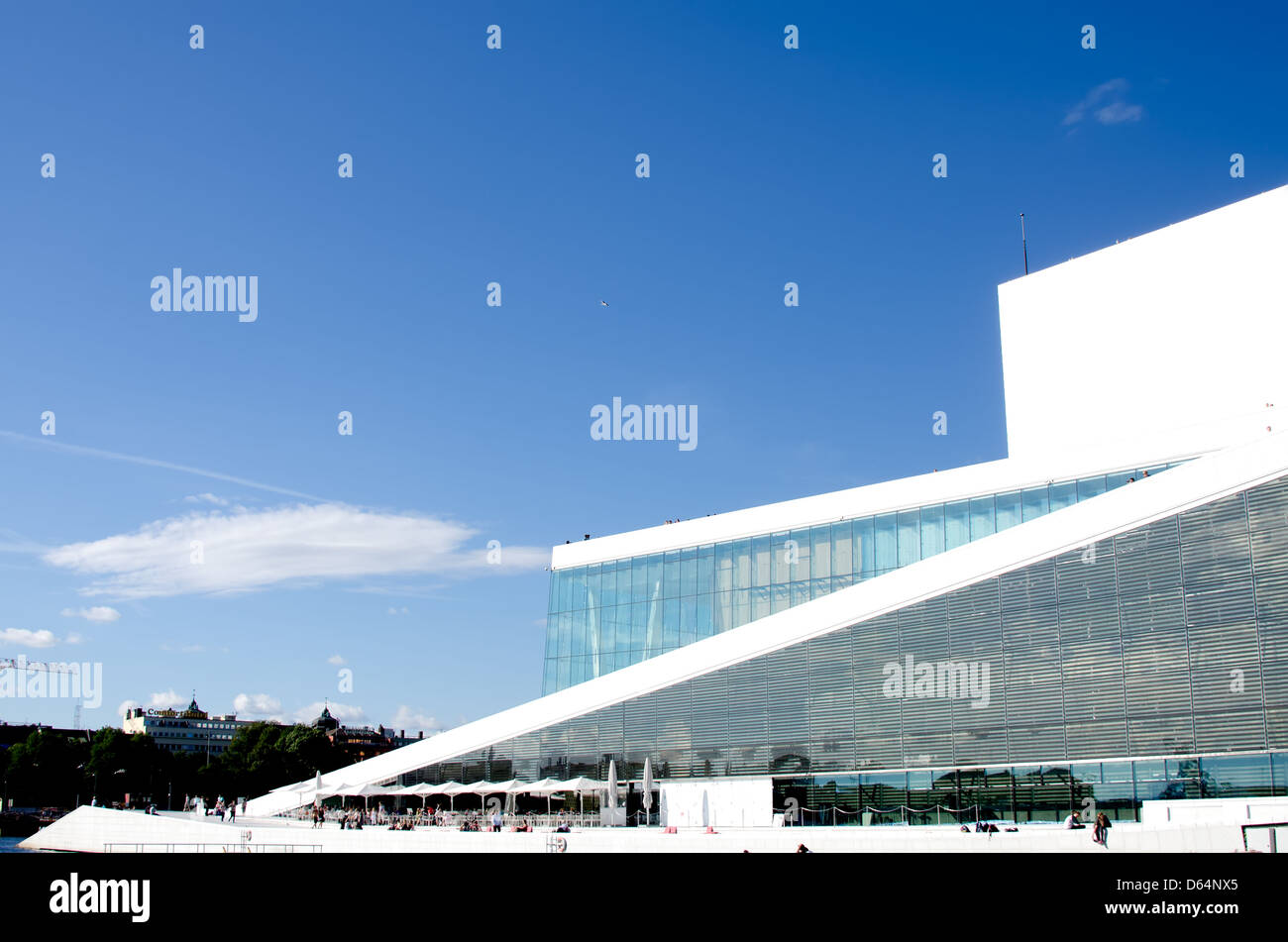 Oslo Opera fjord view - Stock Image