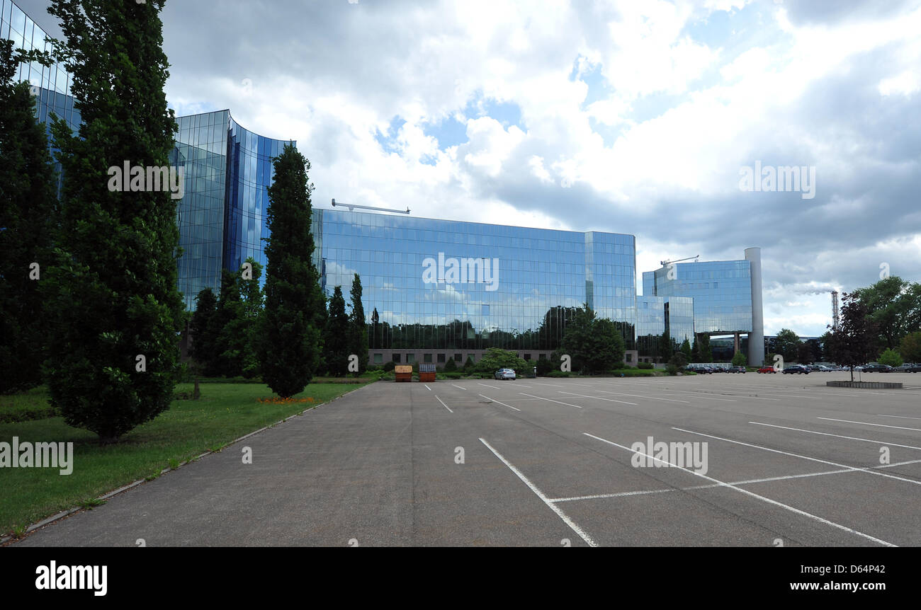 The headquarters of drugstore chain Schlecker are pictured in Ehingen, Germany, 01 June 2012. The creditors - Stock Image