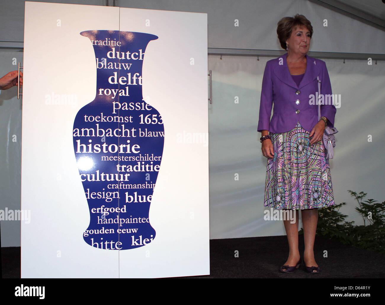 Dutch Princess Margriet HRH Princess Margriet opens the Royal Delft Experience, part of the Royal Delft pottery - Stock Image
