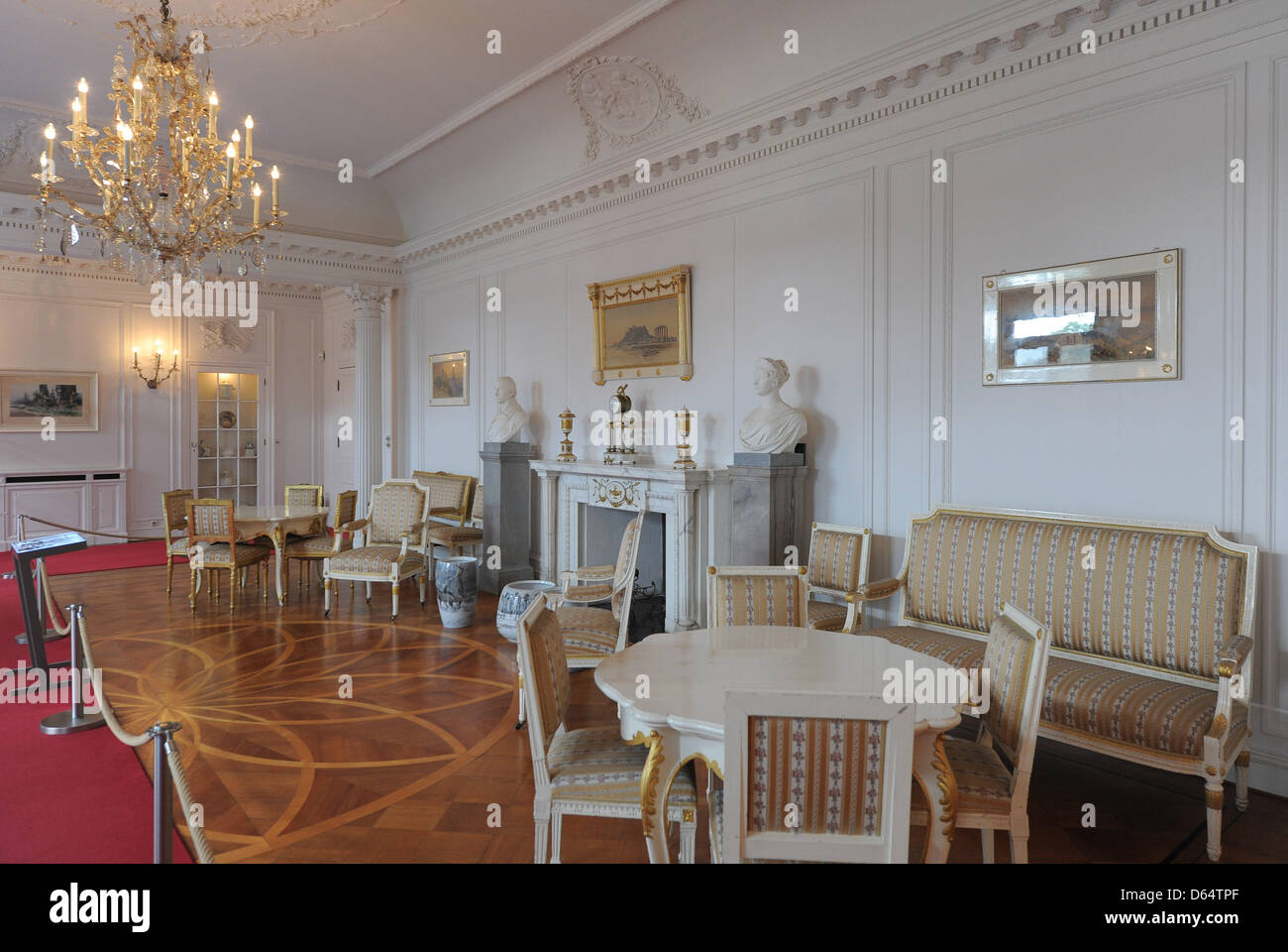 The reception room of the Soviet delegation is one of the exhibits of the permanent exposition on the 1945 Potsdam - Stock Image