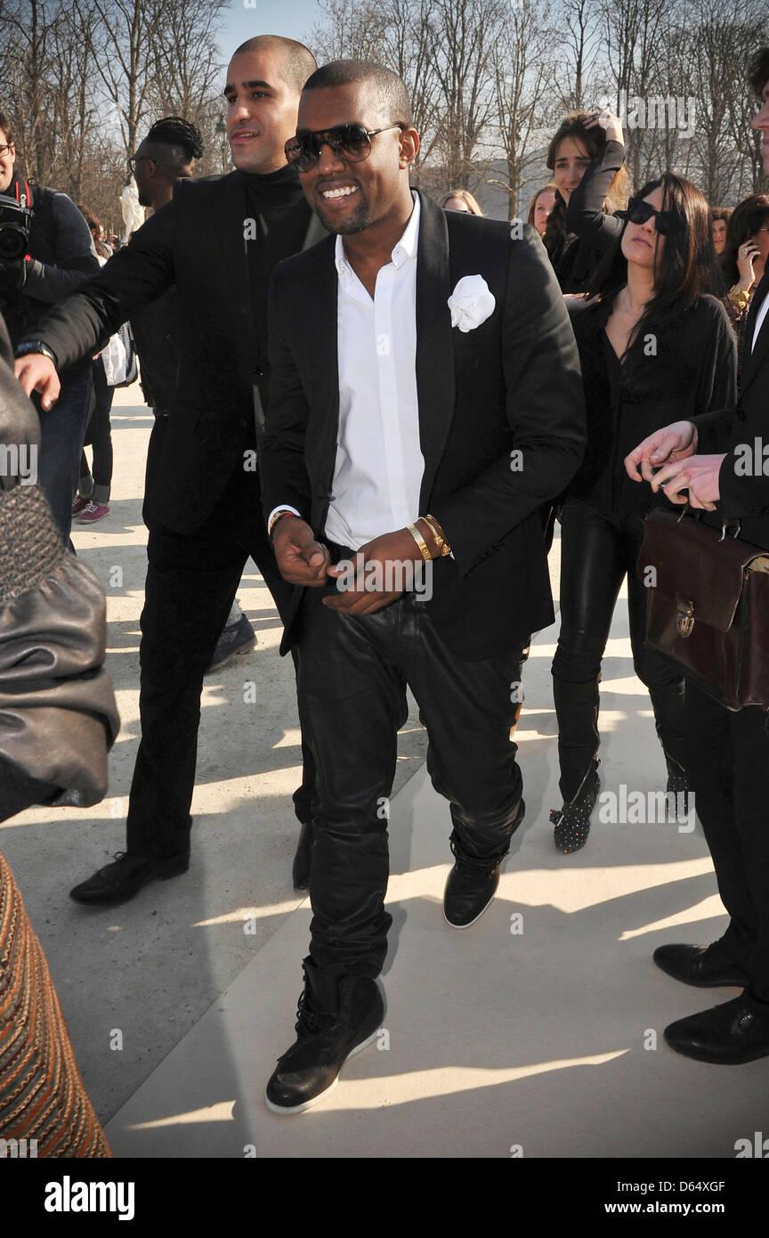 Kanye West Paris Fashion Week Ready To Wear Fall/Winter ChanelOutside Arrivals Paris France - Stock Image