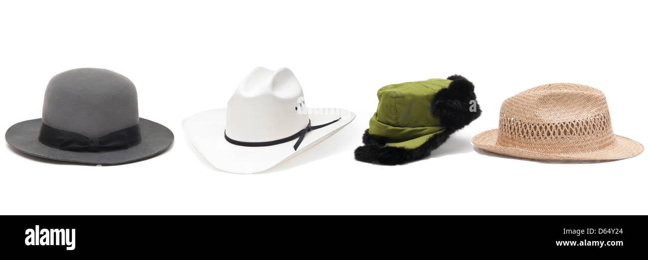 d05ccd053 group of hats.tibetan gray felt,chinese fur, a cowboy Straw hat ...