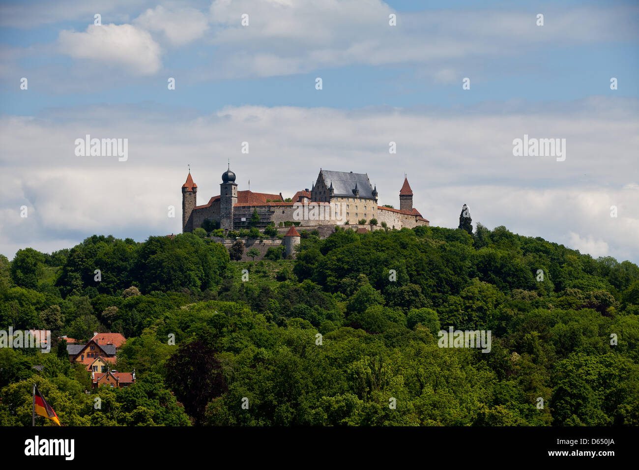 View of Coburg fortress in Coburg, Germany, 27 May 2012. The castle was first mentioned in a document in 1056. The - Stock Image
