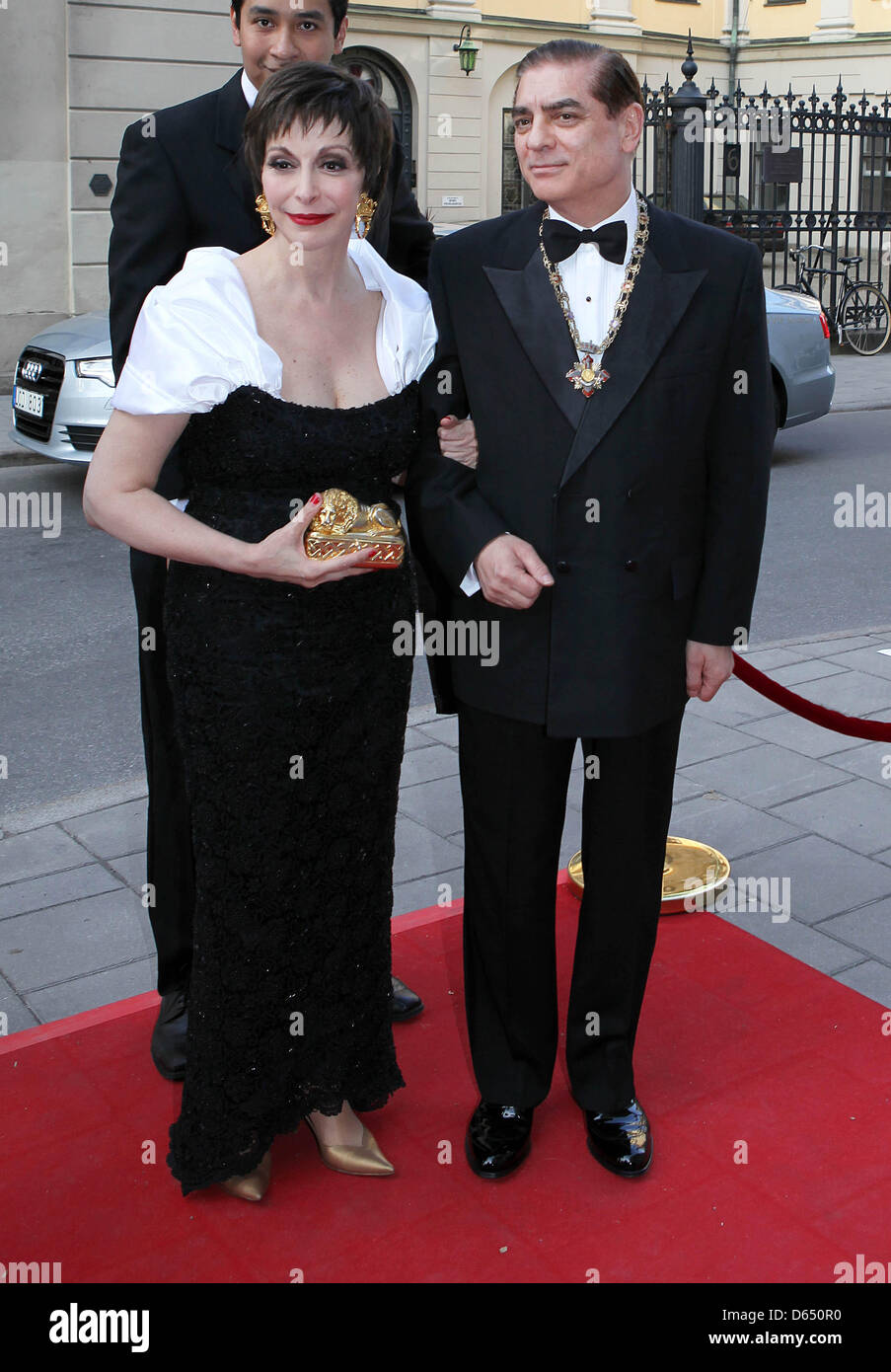 Paul Philippe Hohenzollern and wife Lia  arrives for the opening of Marianne & Sigvard Bernadotte Art Awards Gala Stock Photo