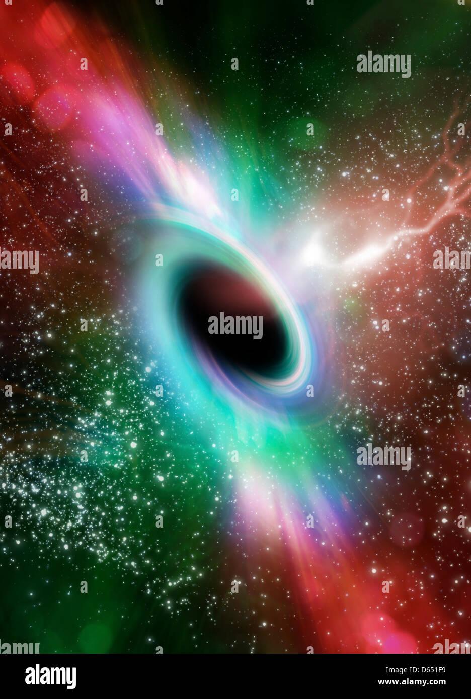 Black hole, artwork - Stock Image