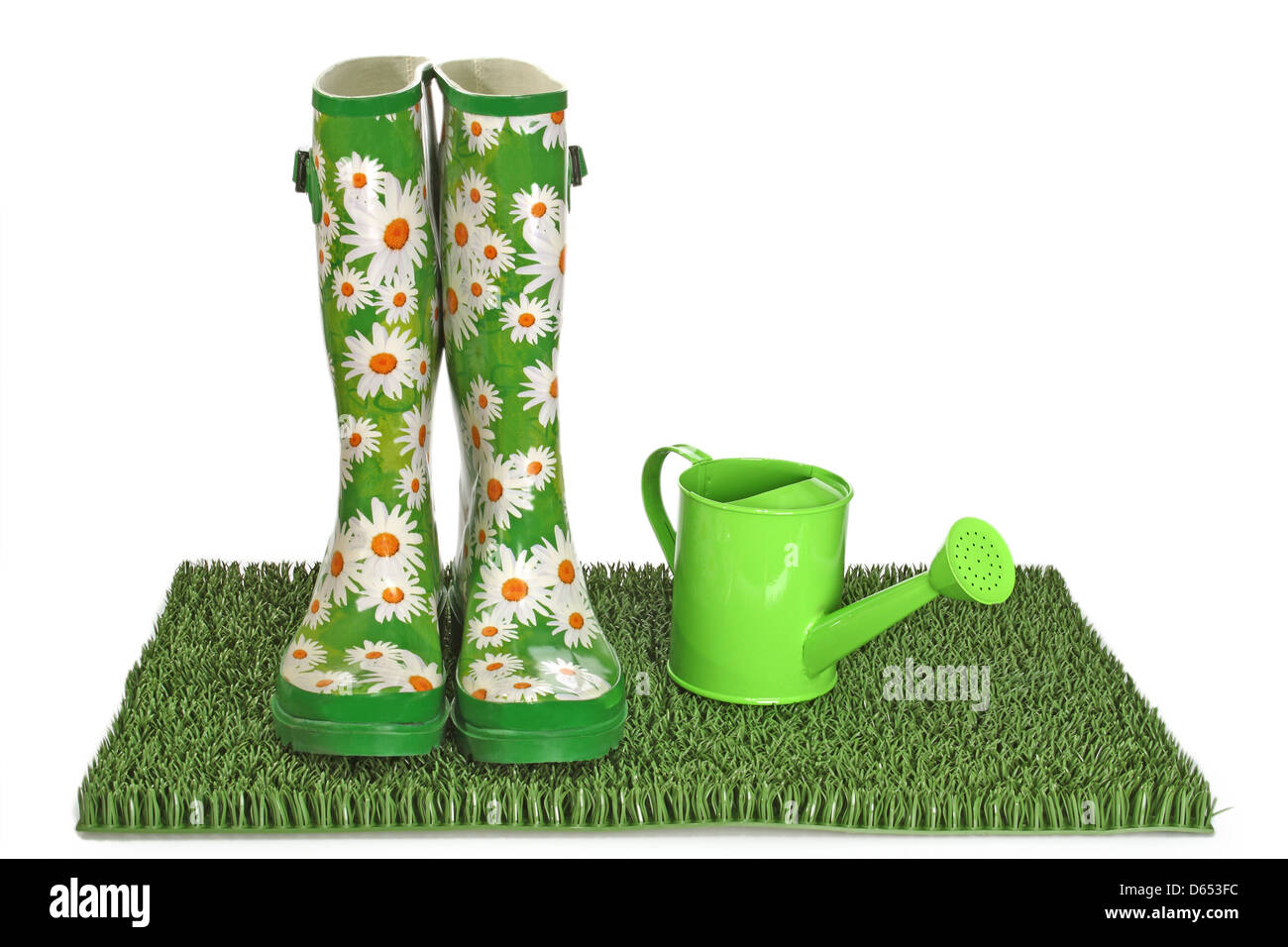 gardening,galoshes Stock Photo