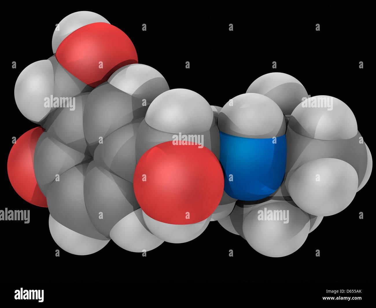 Salbutamol drug molecule Stock Photo