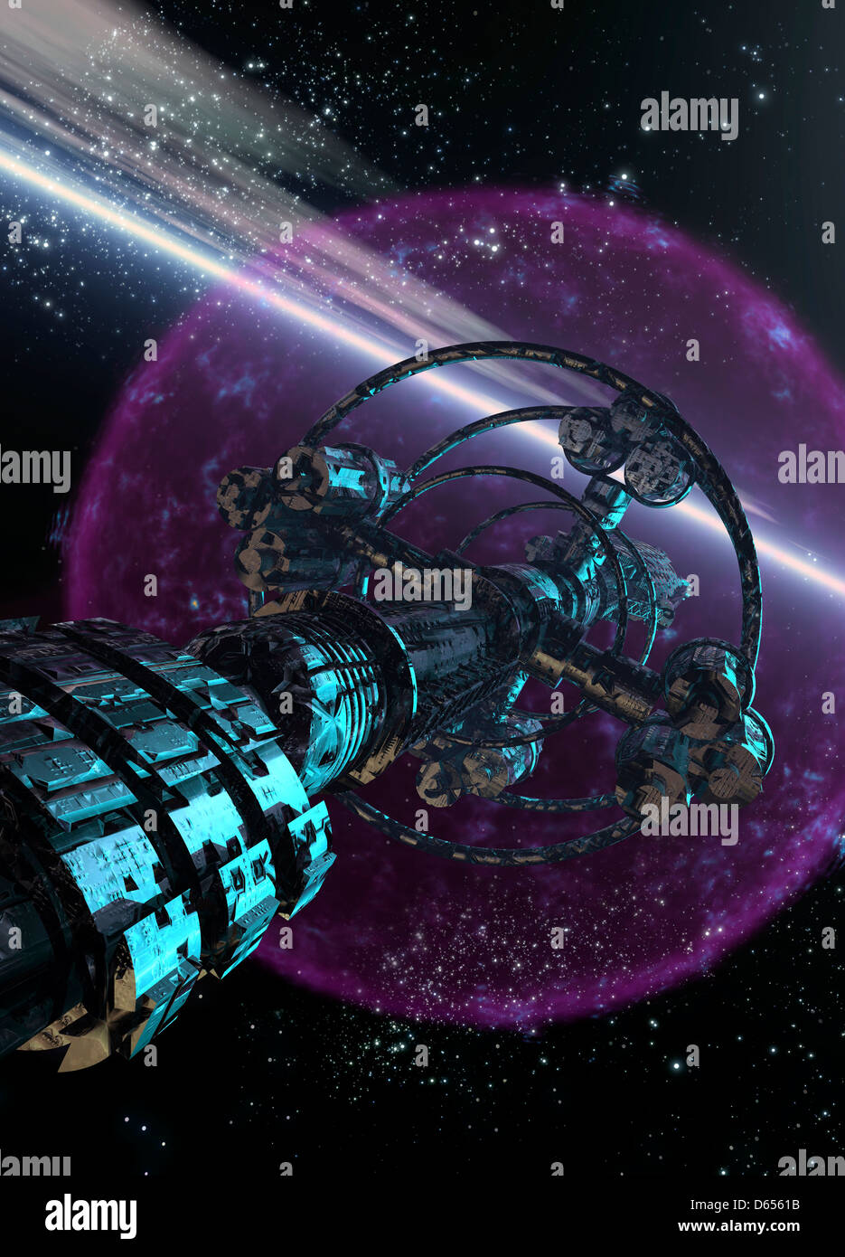 Alien Spaceship Artwork Stock Photo Alamy