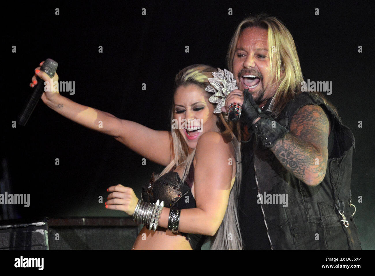 Frontman Of Heavy Metal Band Motley Crue Vince Neil And A Stock Photo Alamy